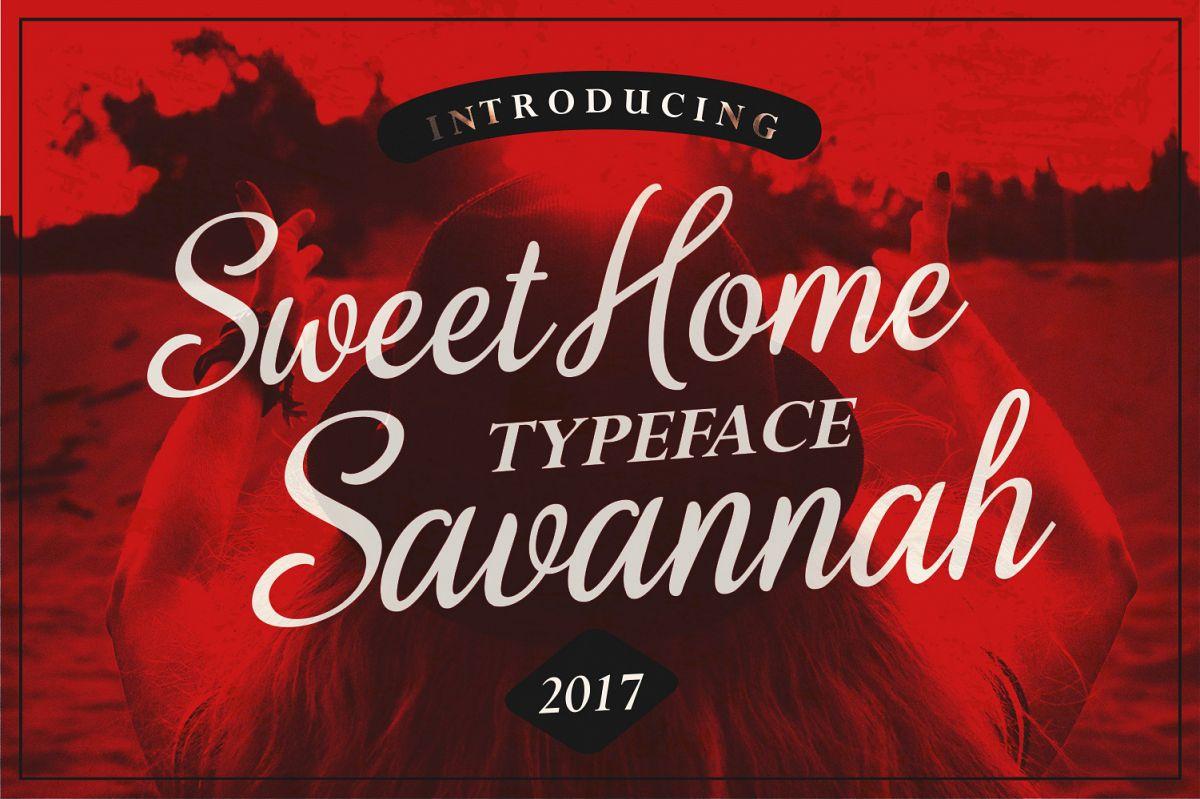 Sweet Home Savannah Font Duo example image