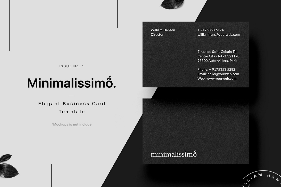 Minimalissimo Business Card Template by | Design Bundles
