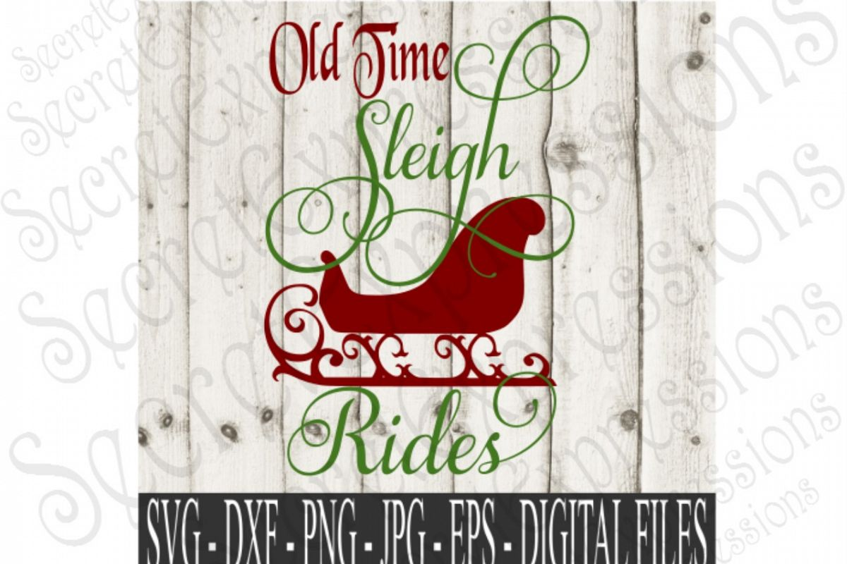 Old Time Sleigh Rides by SecretExpressi | Design Bundles