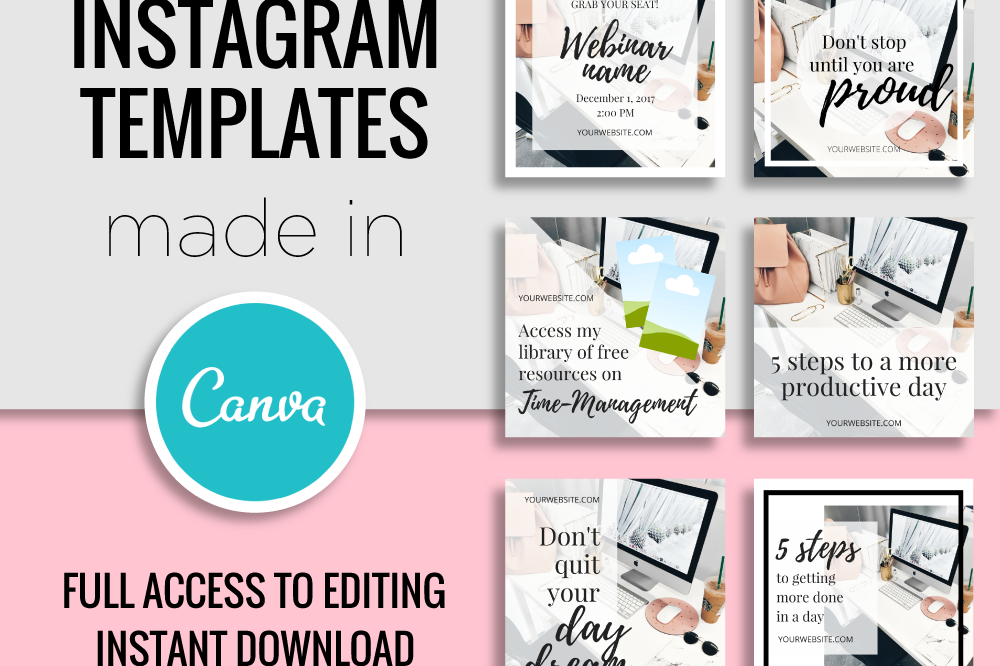 Instagram templates made in canva by my design bundles for Follow us on instagram template