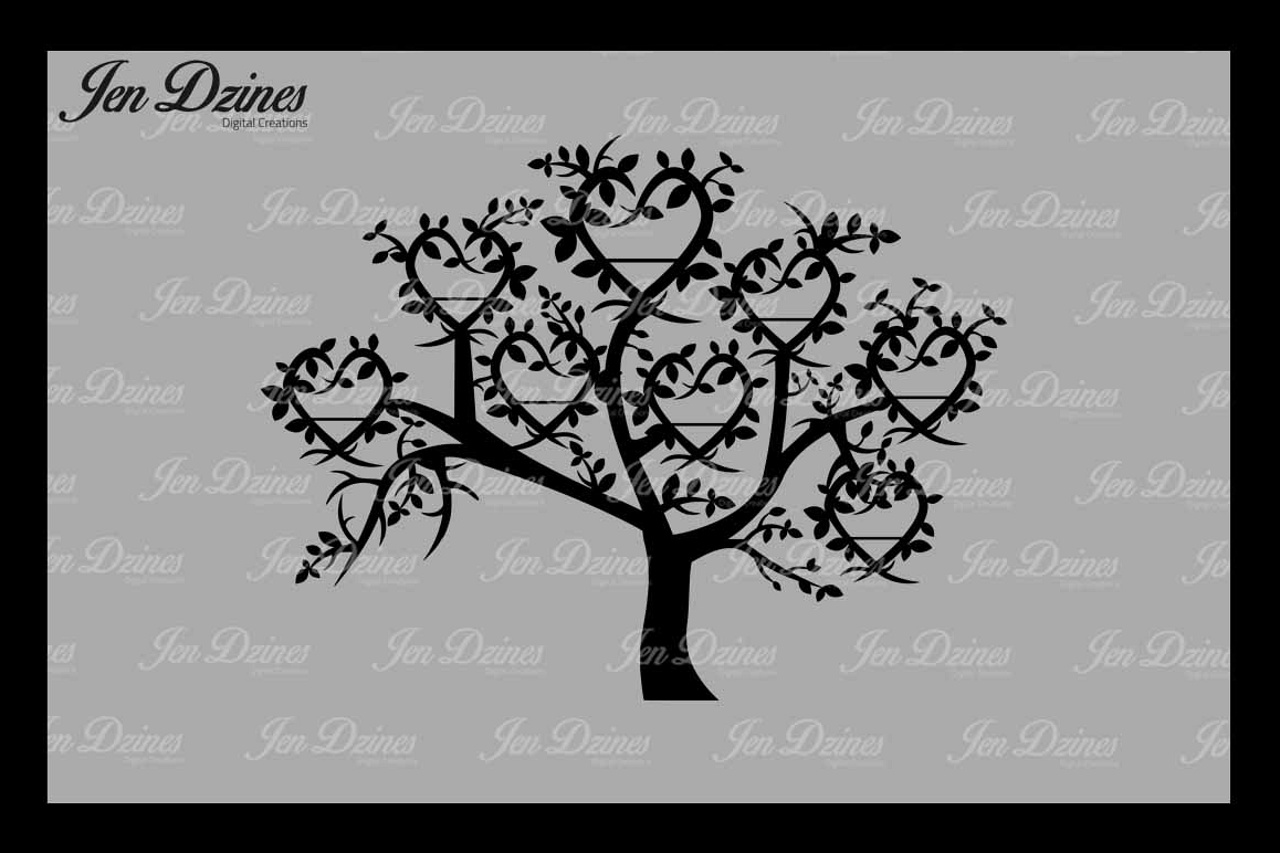 Family Tree 8 Names SVG DXF EPS PNG example image