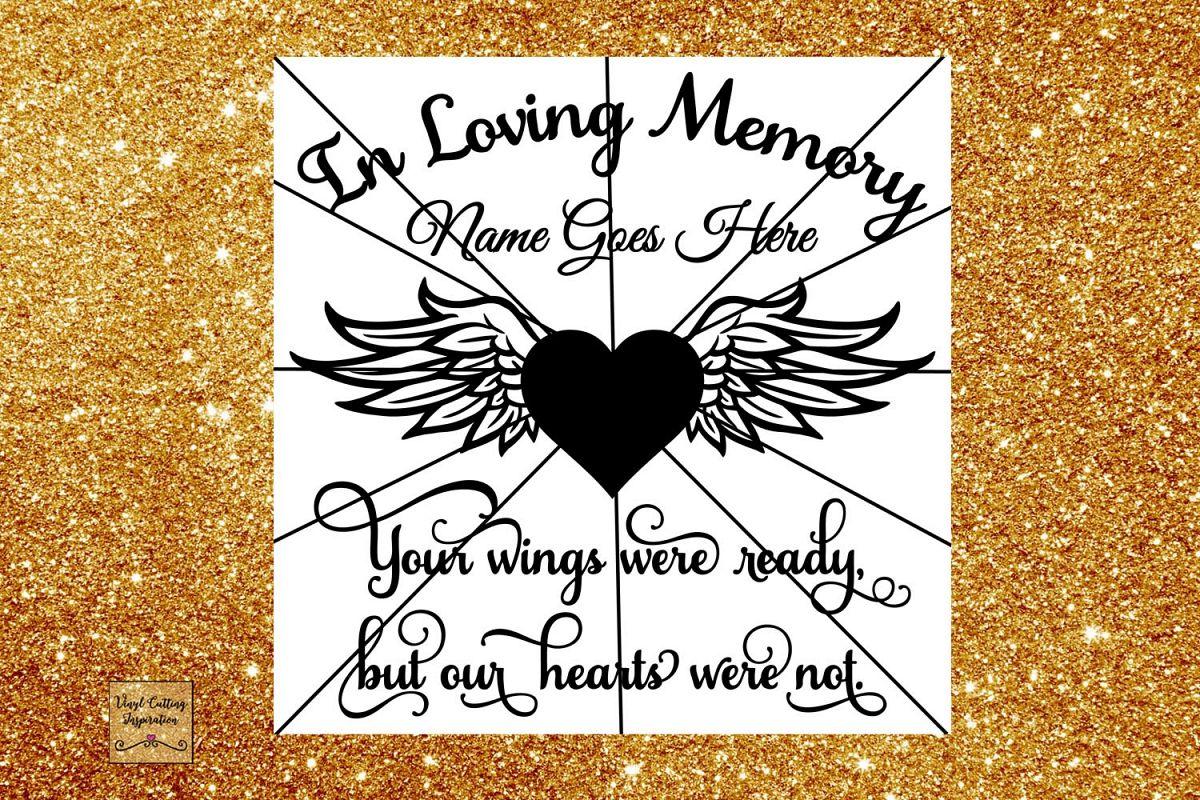 New In Loving Memory Svg, Your Wings Were R | Design Bundles JJ98