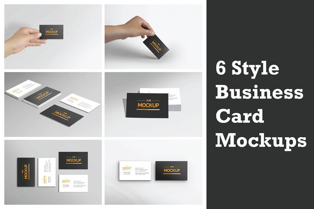 6 Style Business Card Mockups by Mockst | Design Bundles