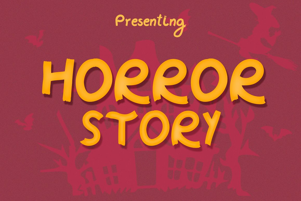 Horror Story Font - A Spooky Brush Font example image