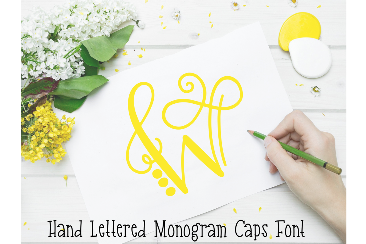 Monogram Hand Lettered Font example image