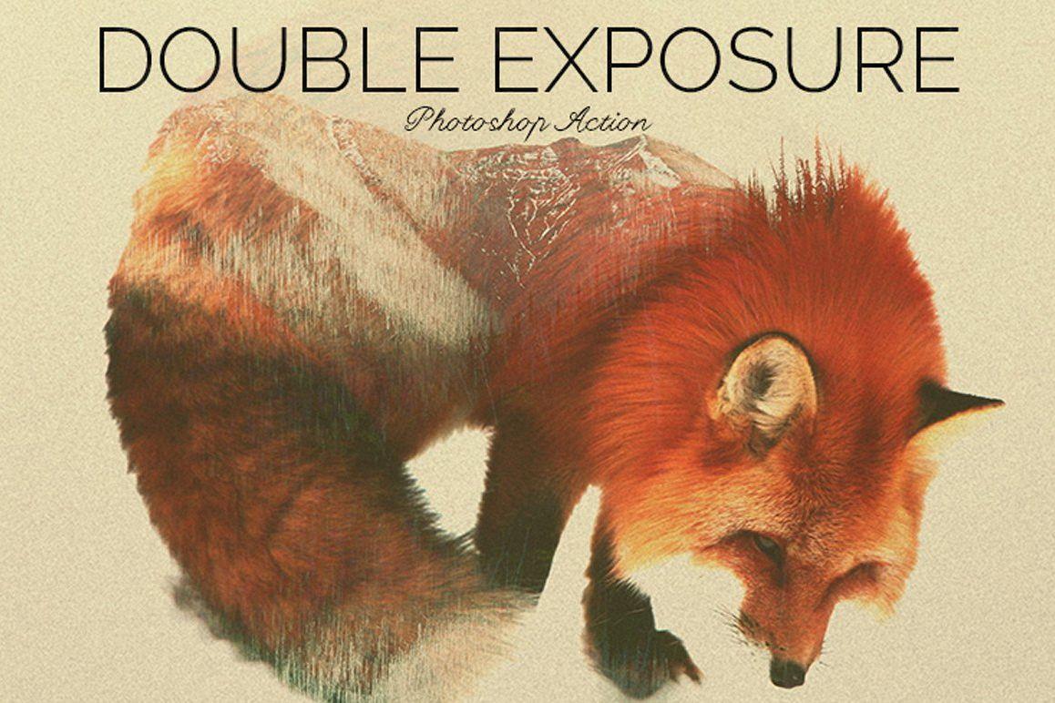 Double Exposure Photoshop Action example image