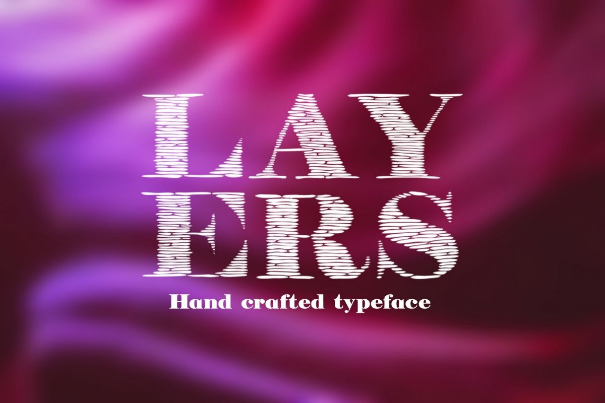 Layers font example image