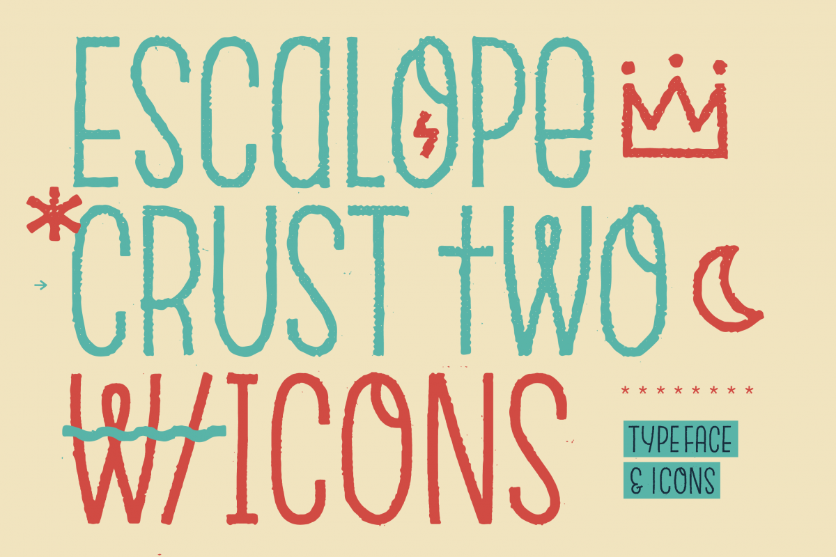 Escalope Crust Two + Icons example image