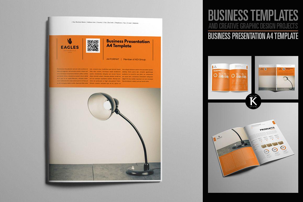 Business Presentation A4 Template by Ke | Design Bundles