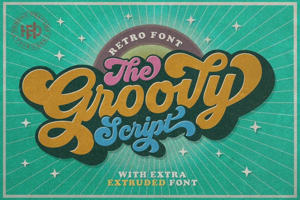 Groovy - Retro Font example image