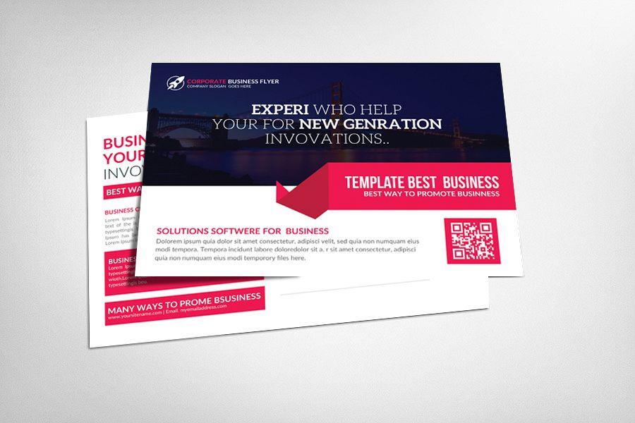 Flat Business Postcard by Business Temp | Design Bundles