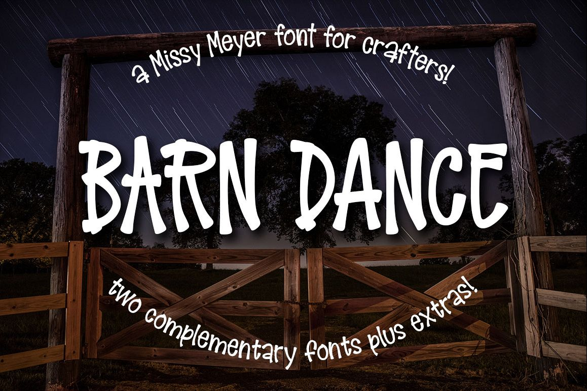 Barn Dance - a homey little font! example image