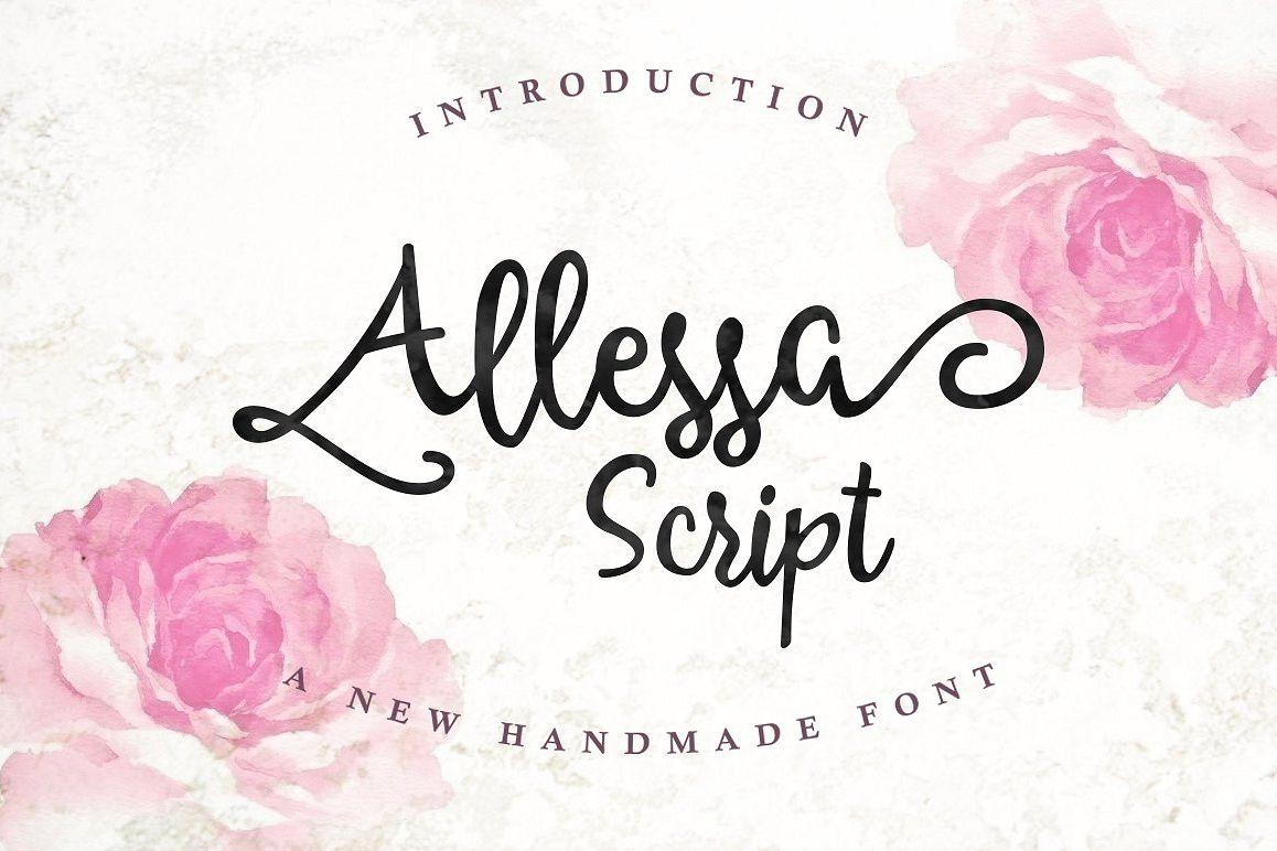 Allessa Script example image