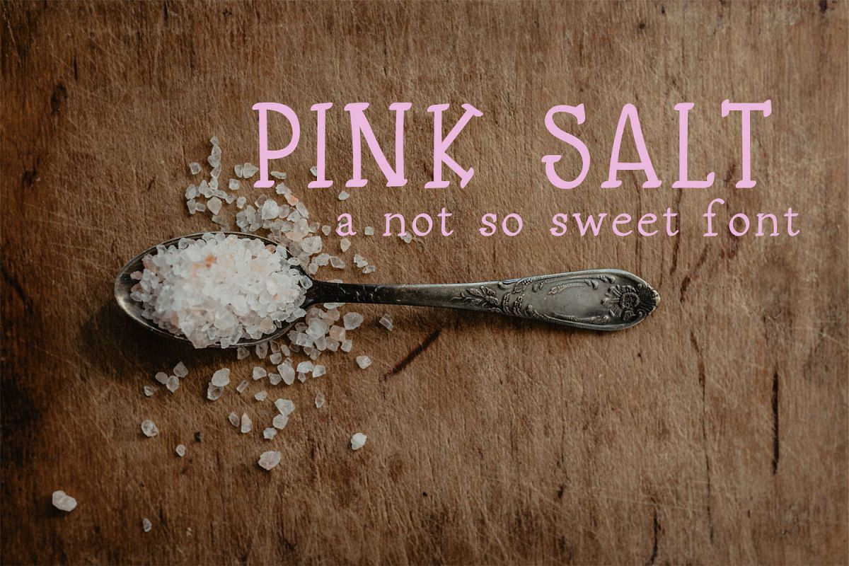 Pink Salt: A Not So Sweet Font example image