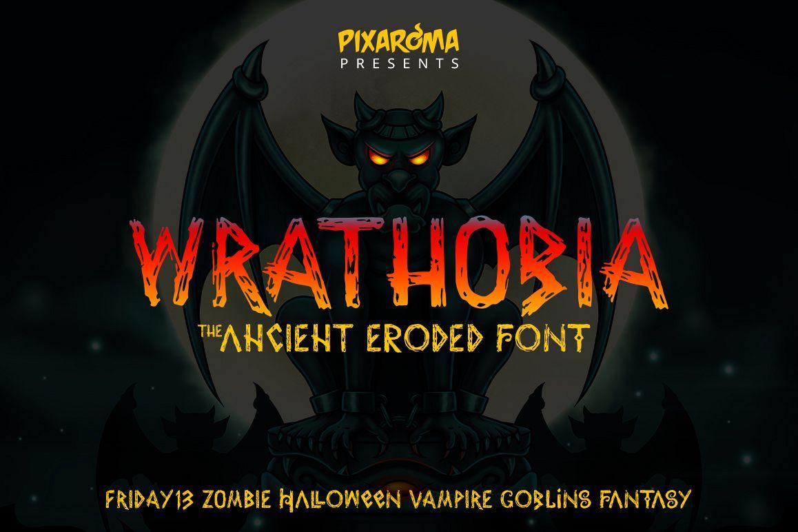 Wrathobia Display Font example image