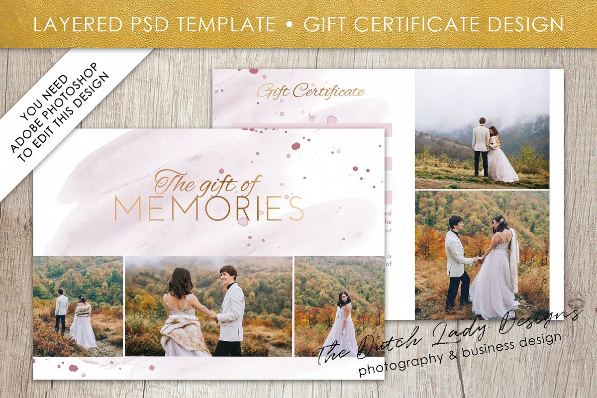 Photo gift card template for adobe phot design bundles photo gift card template for adobe photoshop layered psd template design 36 example yelopaper Gallery