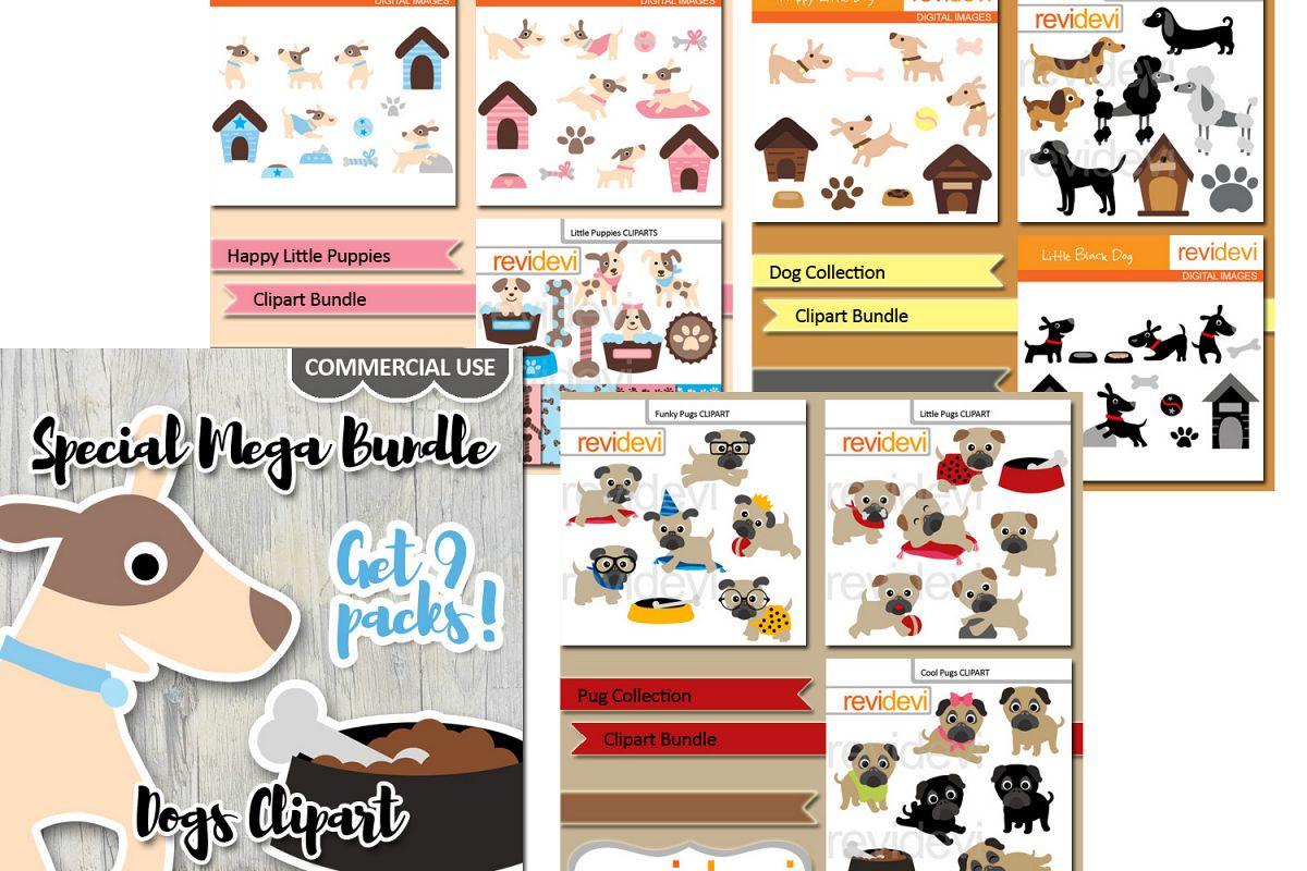puppy dog pet clip art graphics big bun design bundles rh designbundles net doggie clipart black and white doggie clip art month end