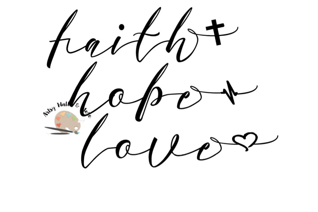 Download faith hope love svg CUT file Christian   Design Bundles