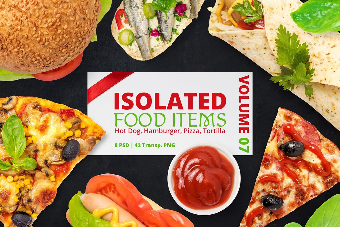 Isolated Food Items Vol.7 example image