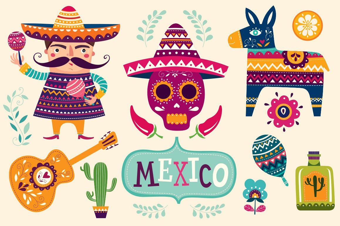 mexican symbols by molesko studio