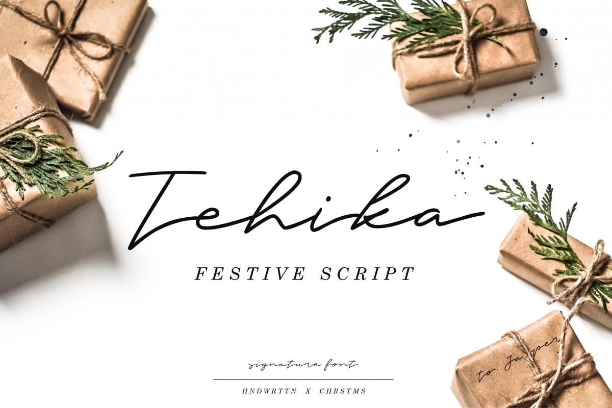 Tehika Script + Bonus example image