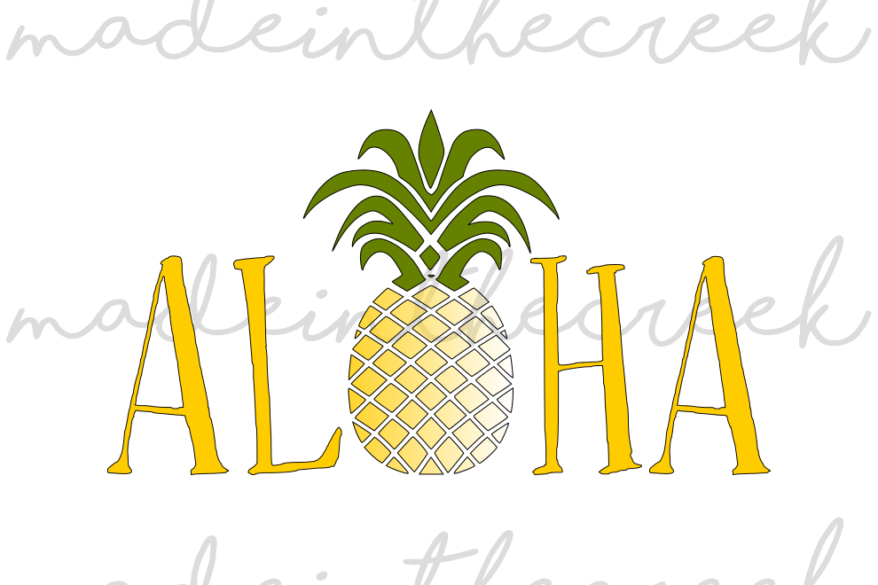 Aloha, Pineapple, Summer, Fun, Cut File | Design Bundles