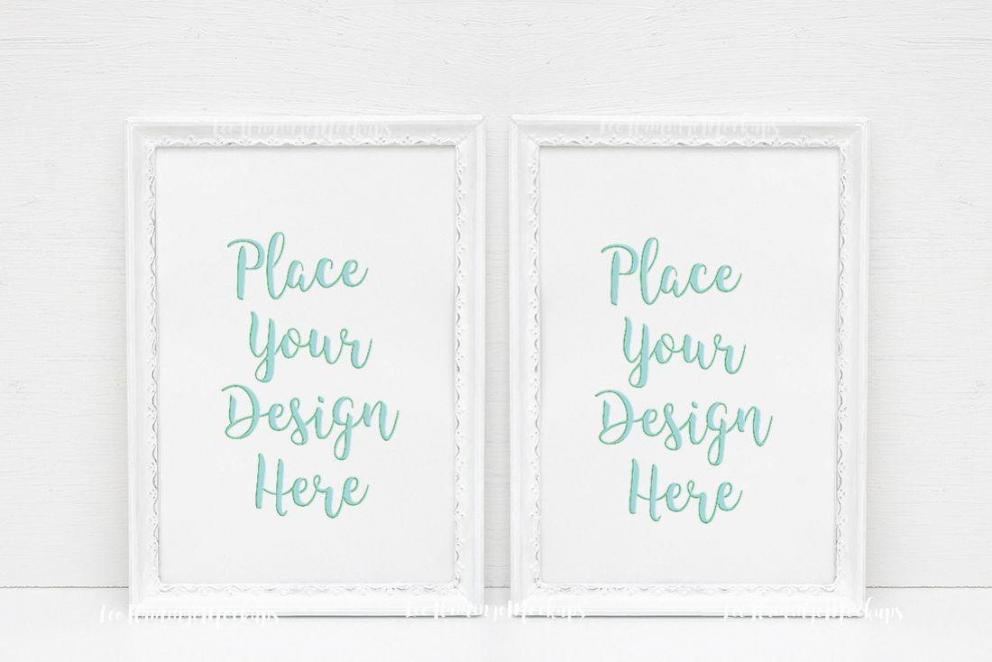 Monochromatic frame Bundle 8x12 inch or   Design Bundles