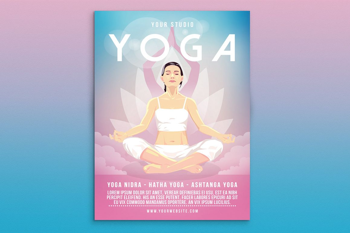 Yoga Flyer Poster by muhamadiqbalhidayat | Design Bundles