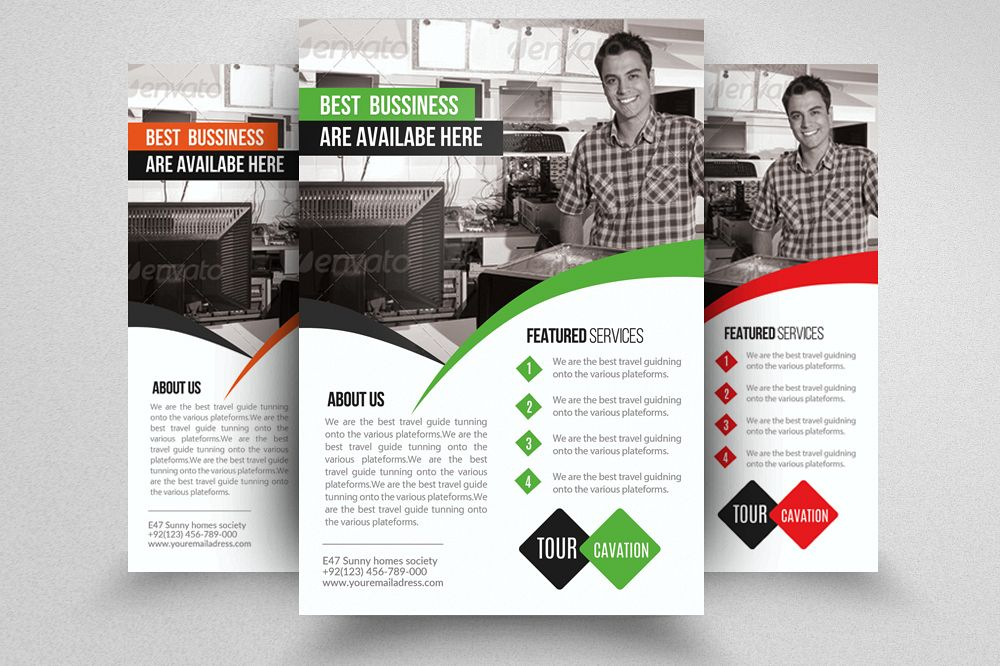 Computer Repair Flyer Template By Des  Design Bundles