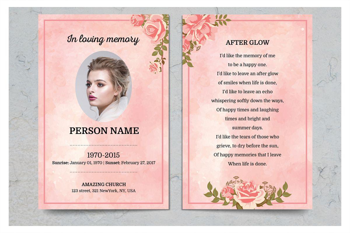 Rose Gold Prayer Card Template By SmmrD Design Bundles - Prayer card template