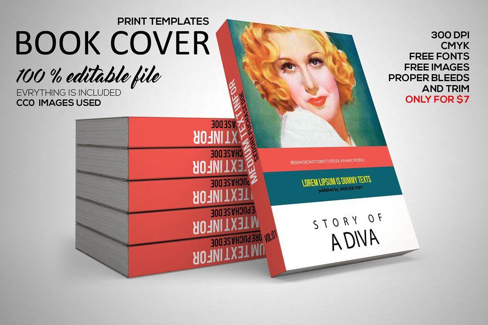 Novel Book Cover Template by Designhub7 | Design Bundles