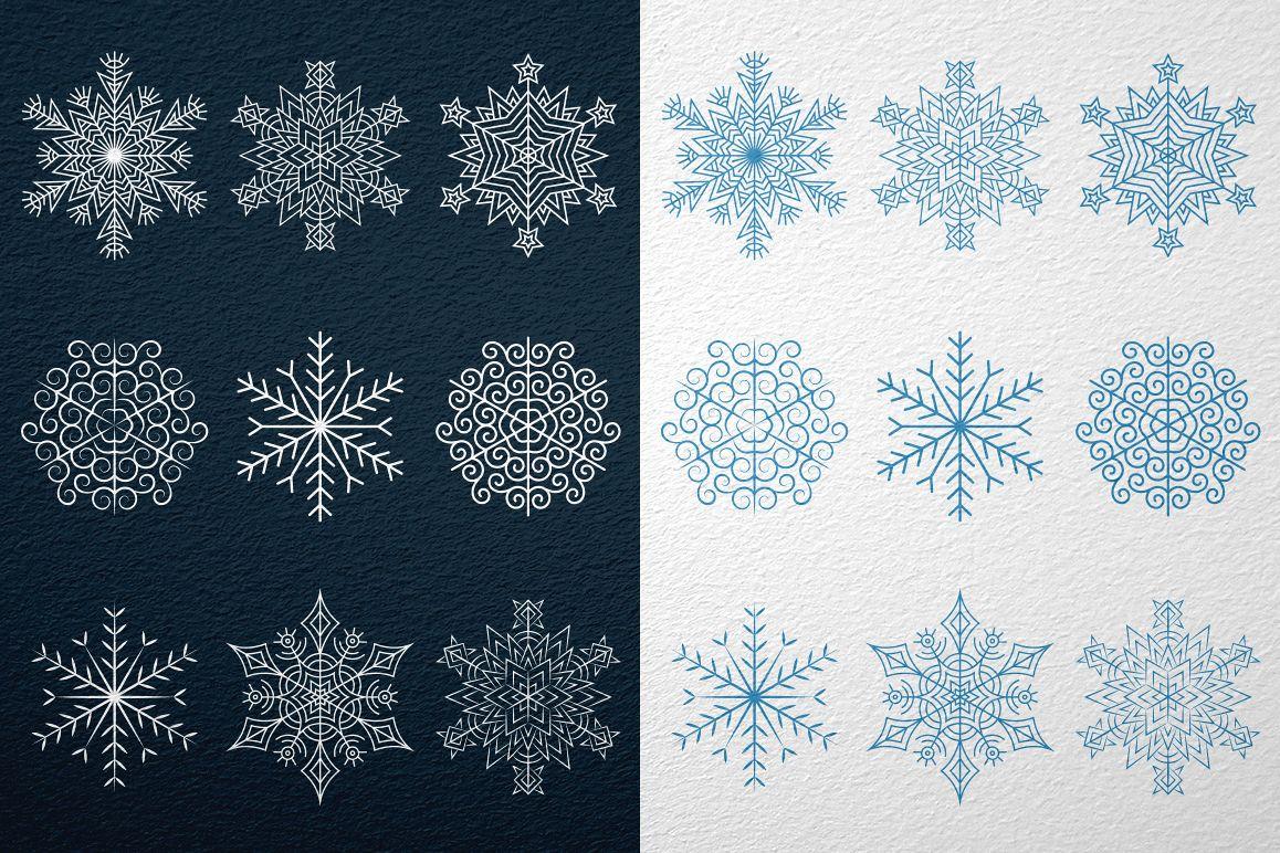 9 Snowflakes example image 2