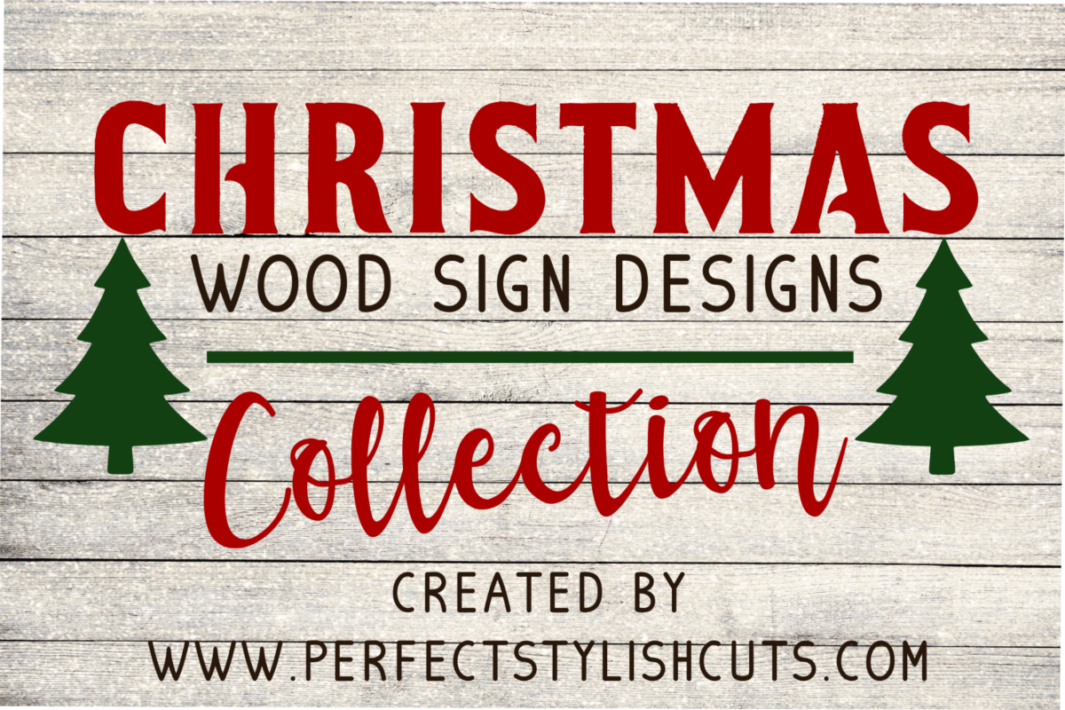 Christmas Wood Sign Designs Collection - SVG, EPS, DXF, PNG Files For Cutting Machines example image