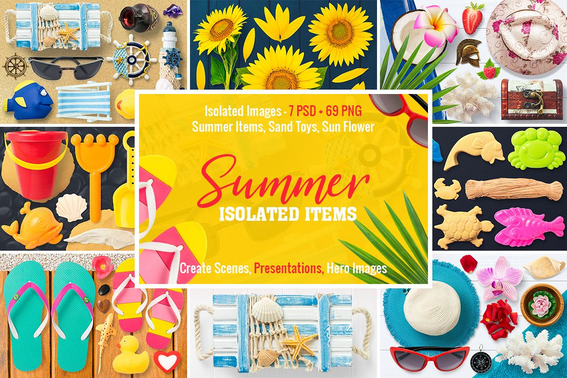 Isolated Summer Items example image