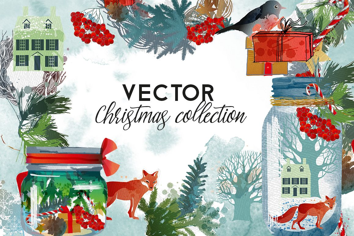 Vector christmas collection example image