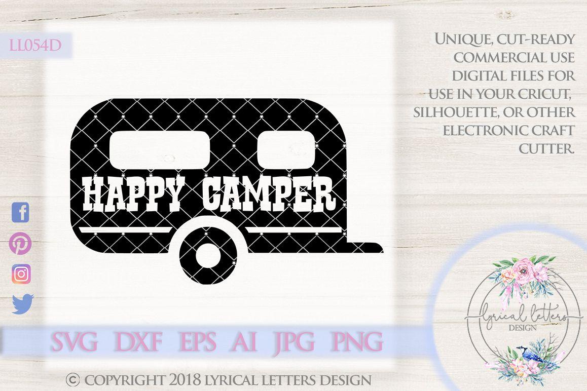 Happy Camper RV LL054D SVG DXF EPS AI
