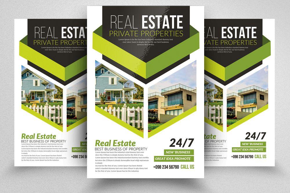 Real Estate Editable Flyer Template By Design Bundles