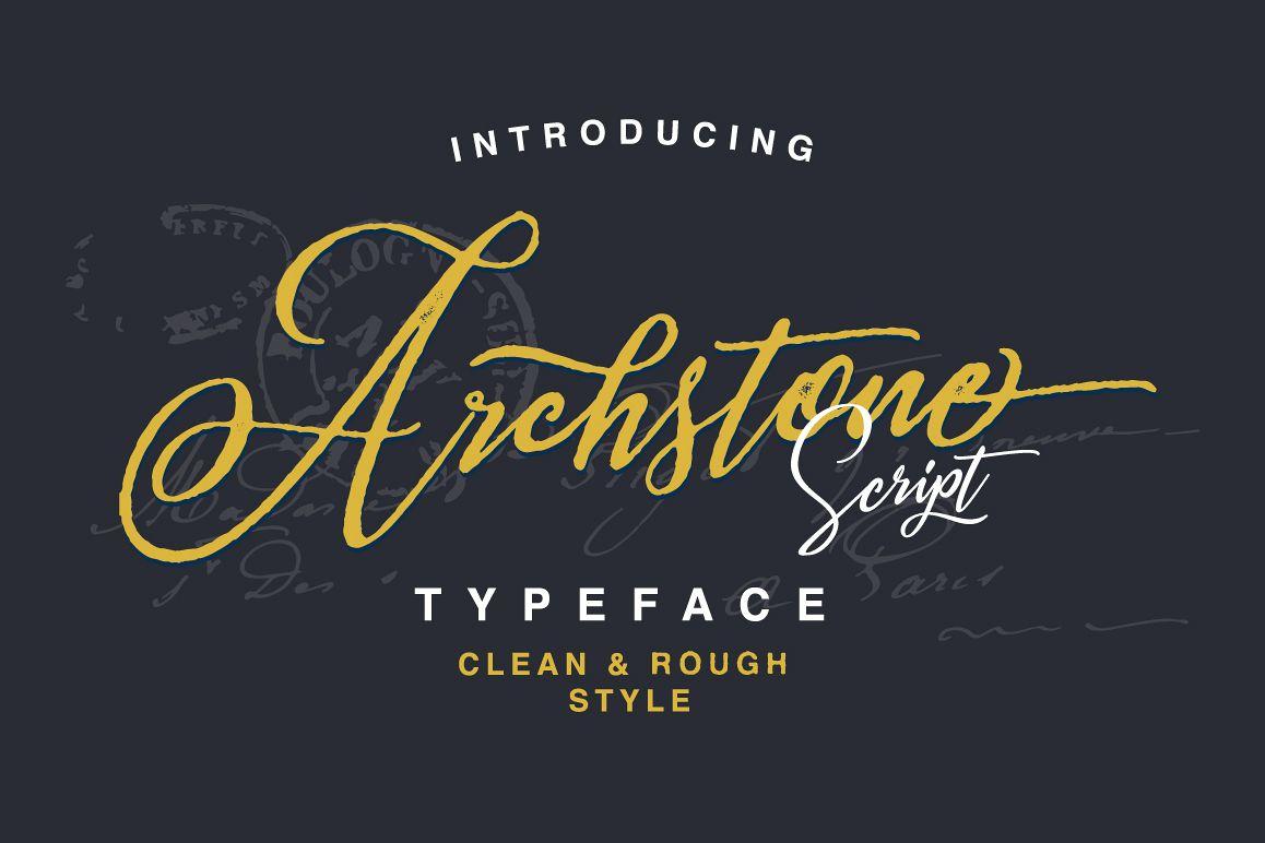 Archstone Typeface example image