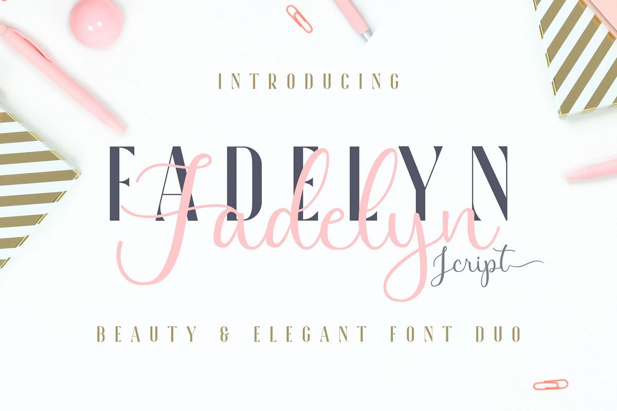 Fadelyn - Font Duo example image