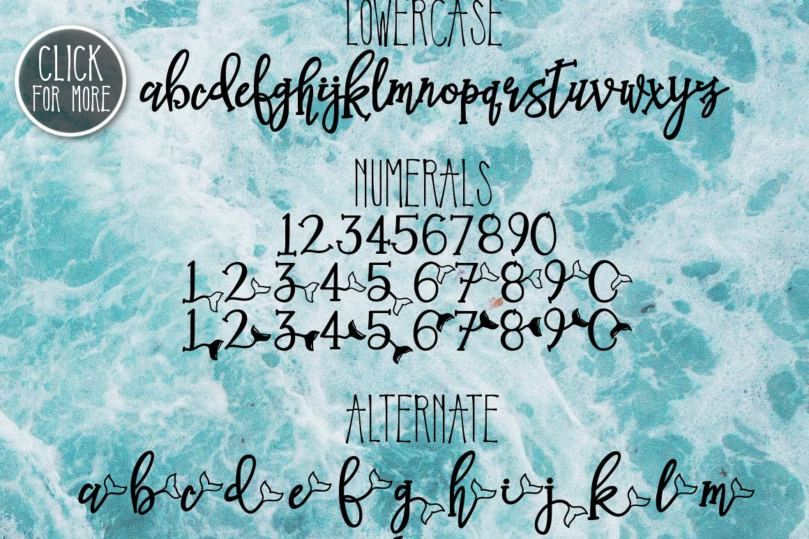 Mermaid Tails a Handwritten Typeface example image 2