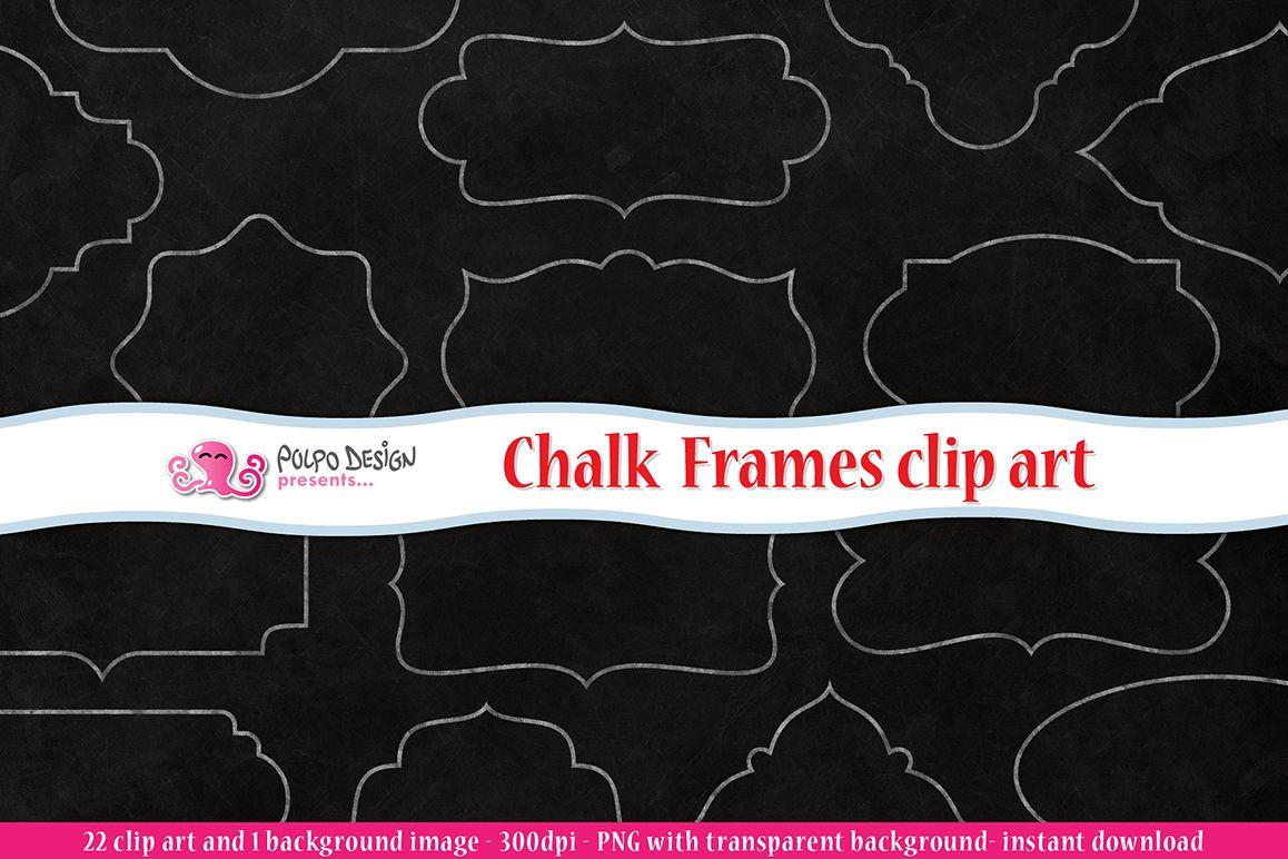 Chalkboard Frames clipart by Polpo Desi | Design Bundles