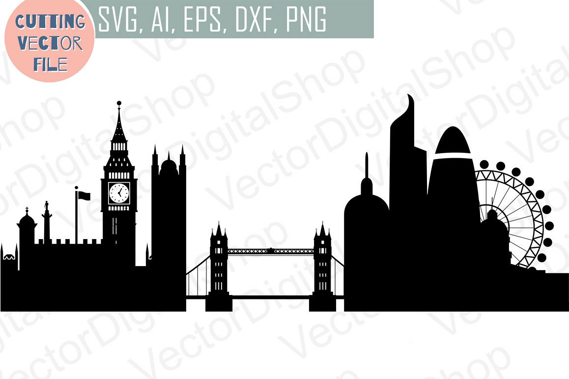 London Skyline Vector England City SVG JPG PNG DWG CDR