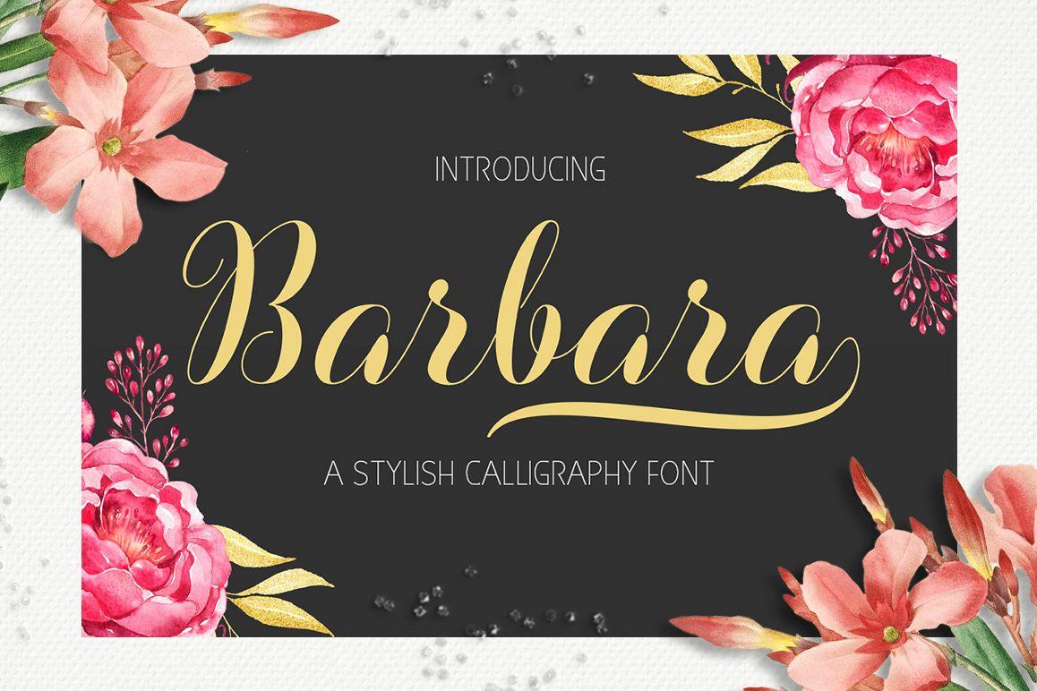 Barbara Script  example image