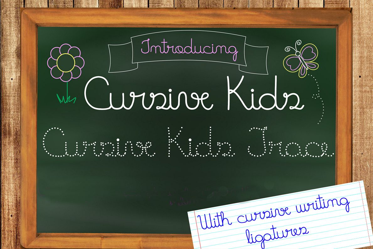 Fonts Cursive Kids and Cursive Kids Trace example image