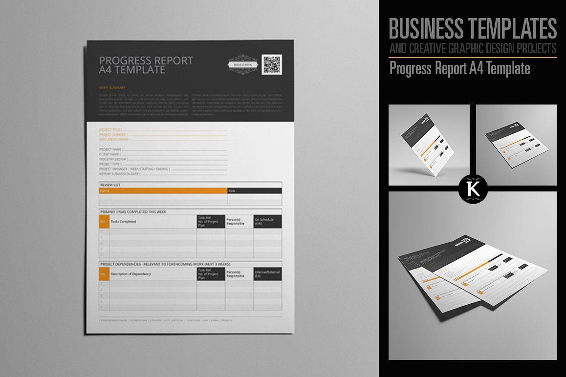 Progress Report A4 Template by Keboto | Design Bundles