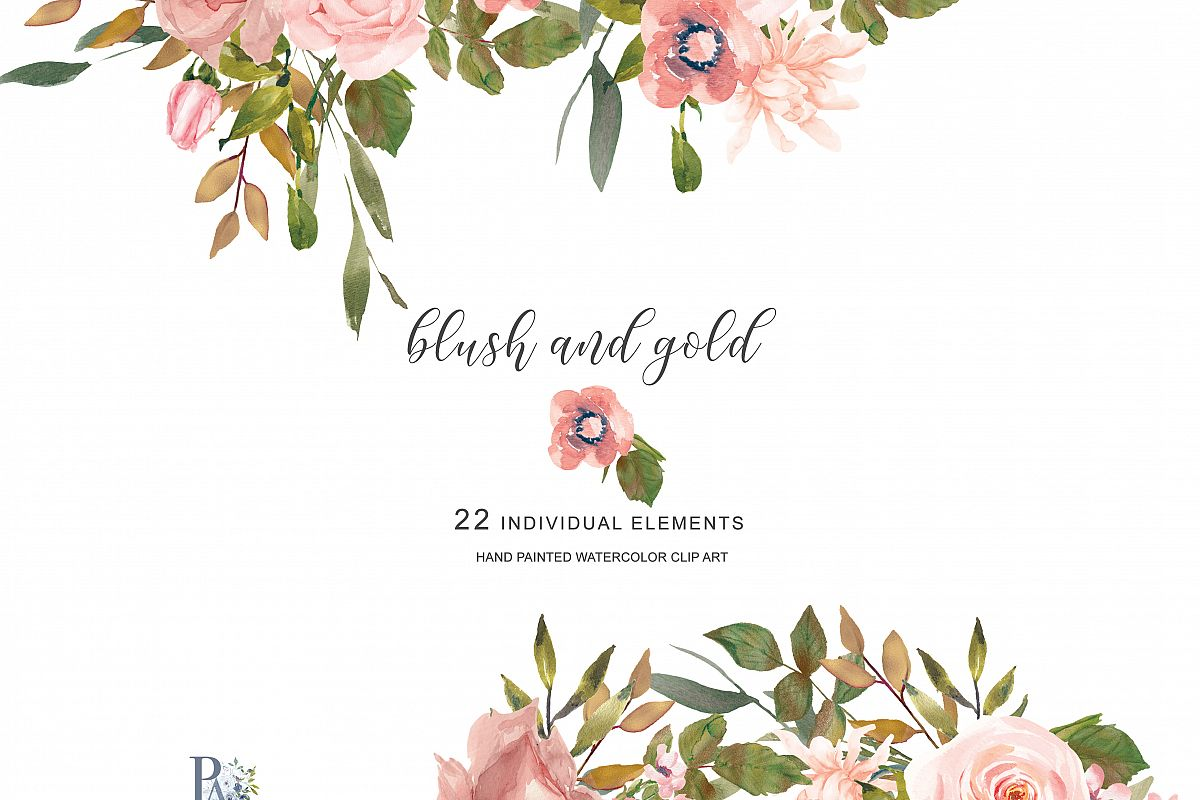 watercolor flower clipart separate elem design bundles rustic flowers clipart rustic flower clip art free