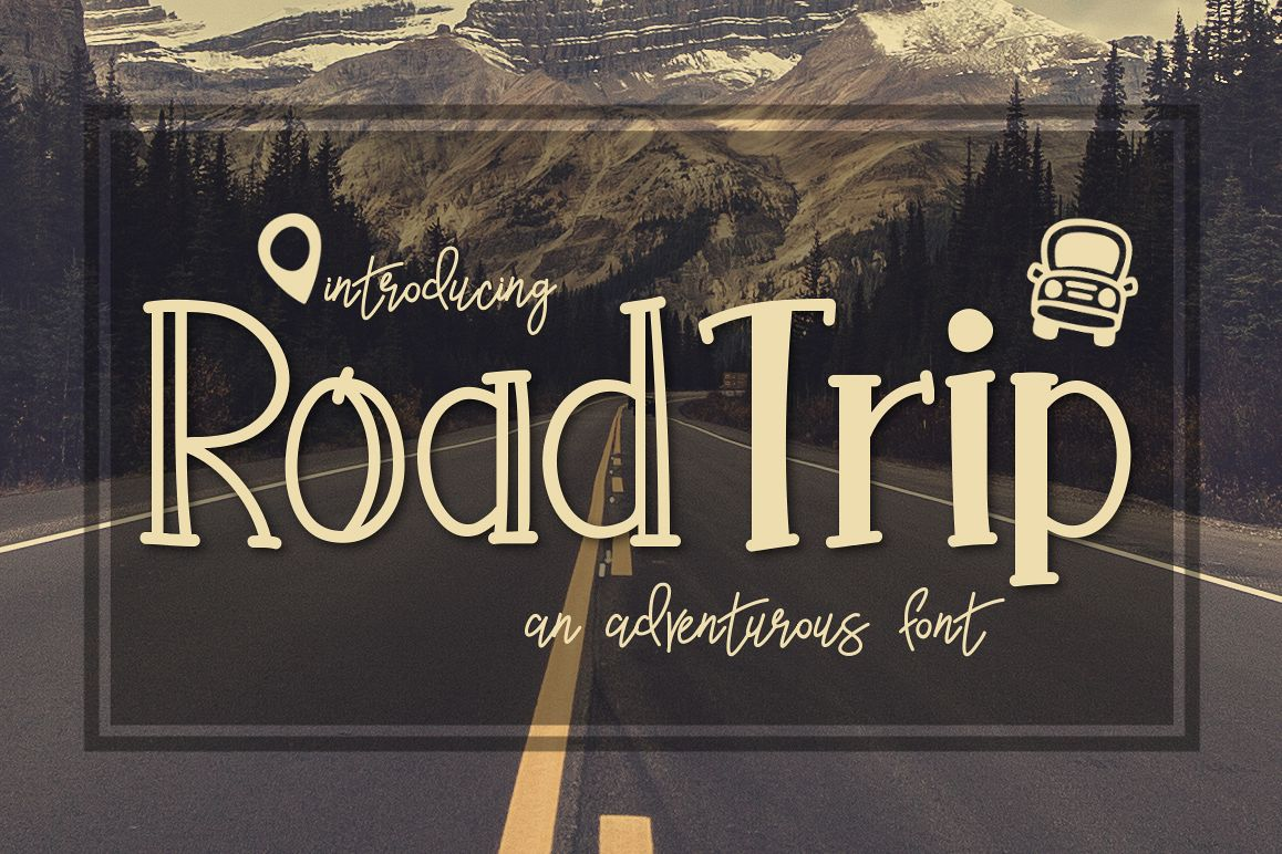 Road Trip an Adventurous Font example image