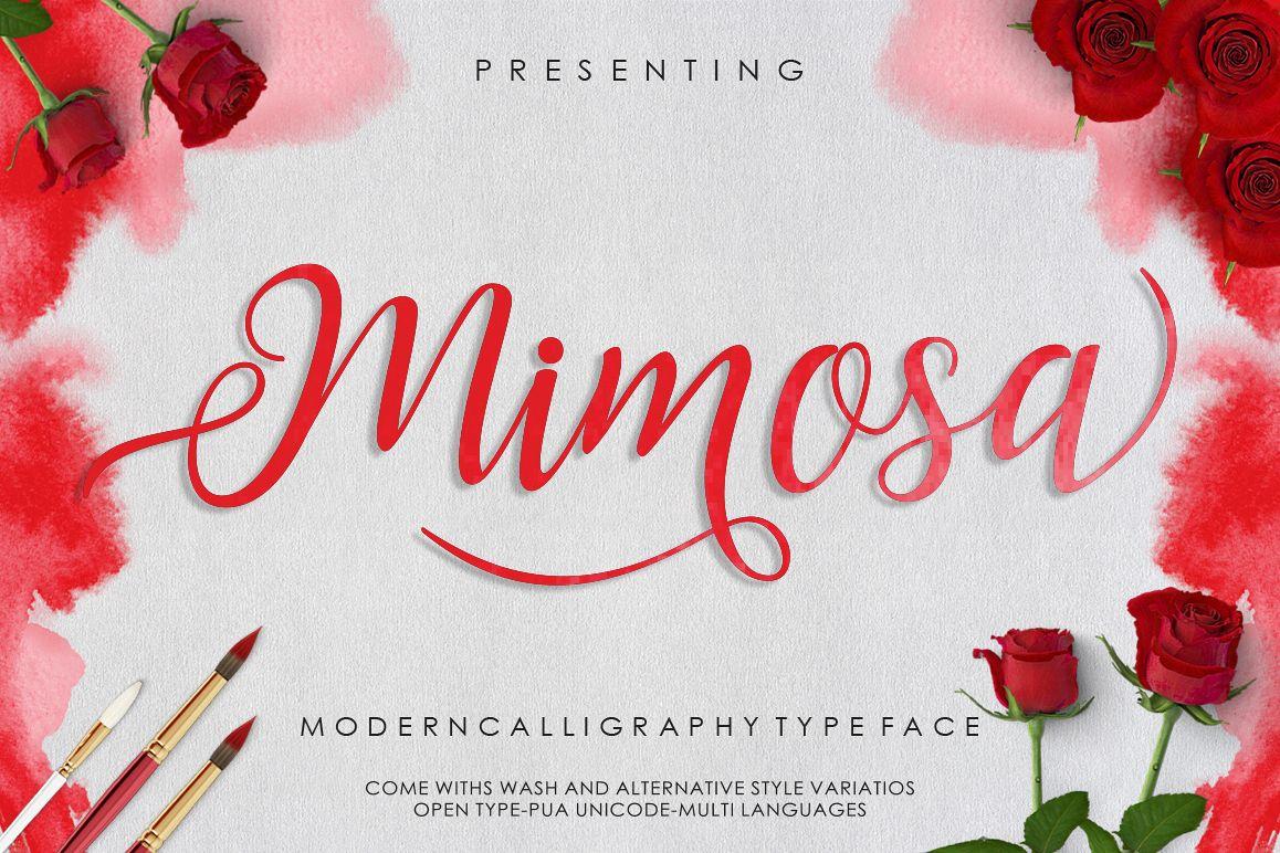 Mimosa Script example image
