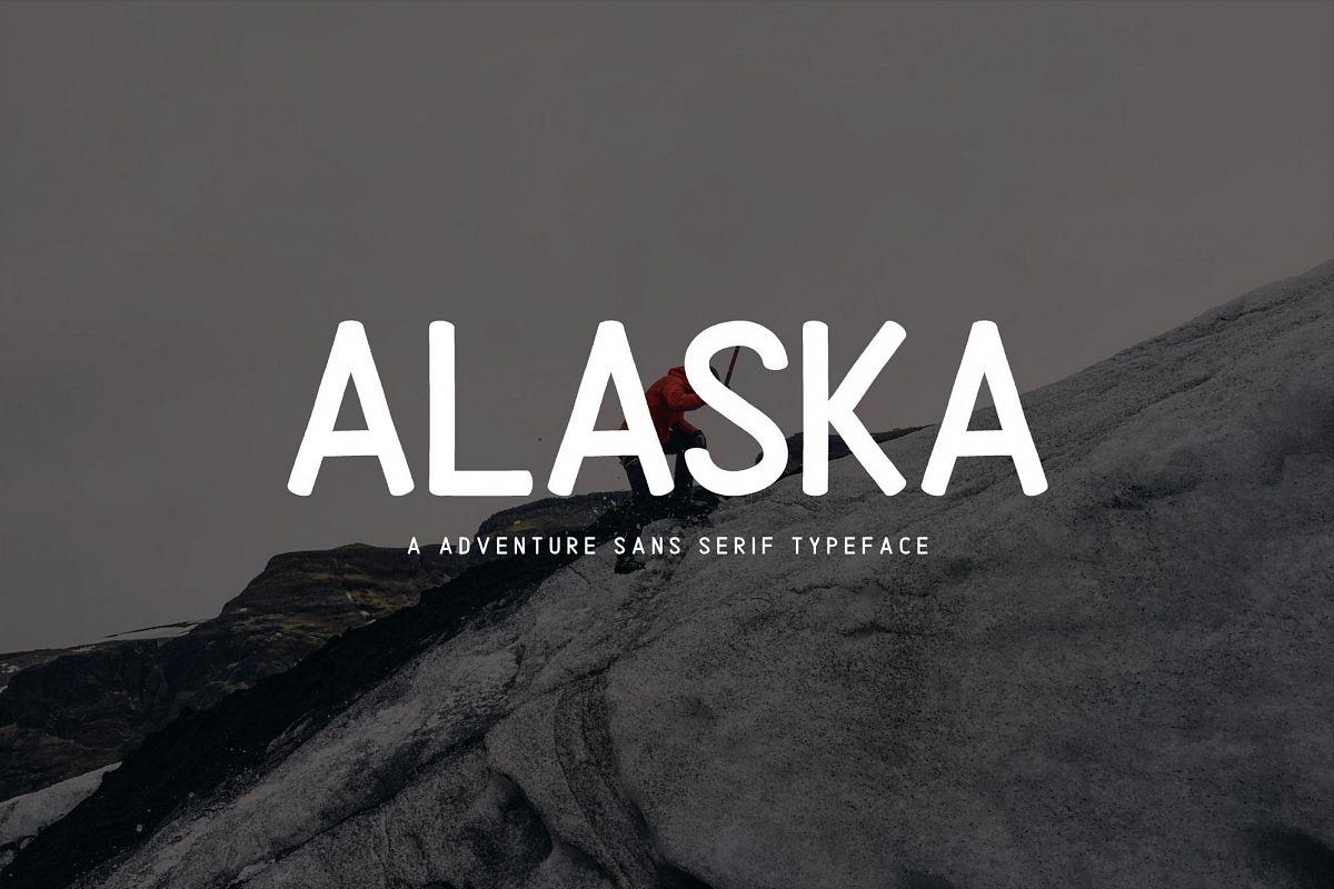 Alaska Typeface Font example image