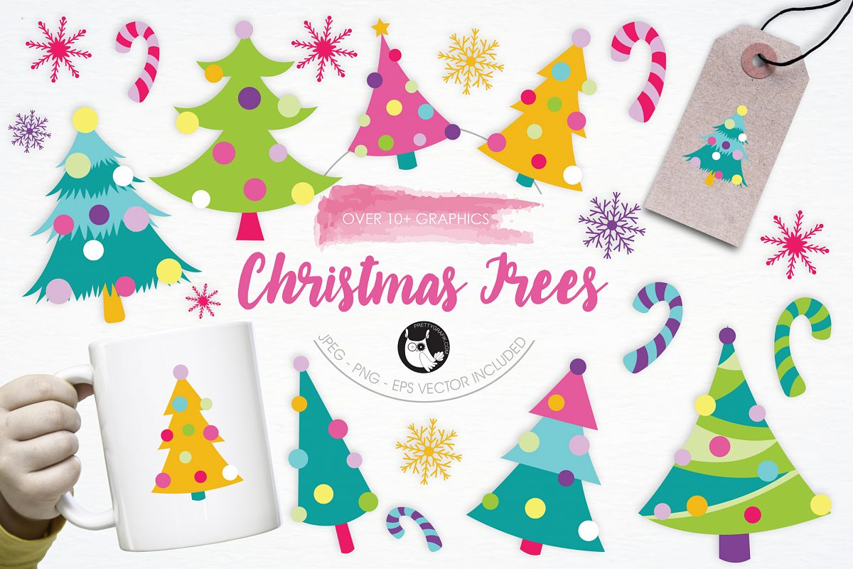 Christmas Trees graphics and illustrations example image